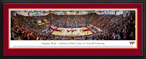 Virginia Tech Hokies Basketball Panoramic Poster - Cassell Coliseum