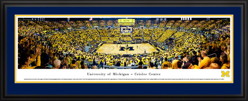 Michigan Wolverines Basketball Panoramic Poster - Crisler Center