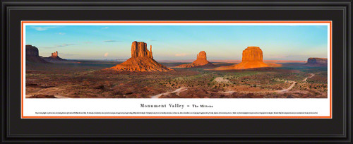 Monument Valley Panoramic Scenic Landscape Picture - Mitten Buttes