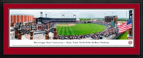 Mississippi State Bulldogs Baseball Poster - Dudy Noble Field Panorama