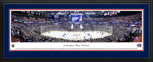 Columbus Blue Jackets Panoramic Poster - Nationwide Arena Fan Cave Print