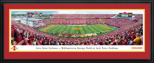 Iowa State Cyclones Football Panoramic Poster - Jack Trice Stadium