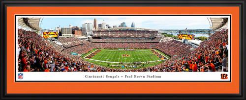 Cincinnati Bengals Panoramic Poster - Paul Brown Stadium Fan Cave Decor