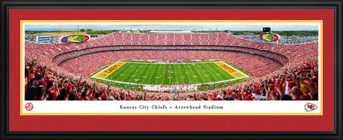 Kansas City Chiefs 60 Seasons Panoramic Poster - Arrowhead Stadium Picture