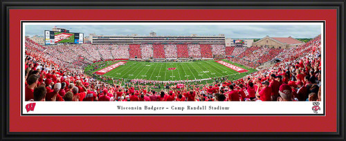 Wisconsin Badgers Football Panoramic Poster - Camp Randall Stadium Picture