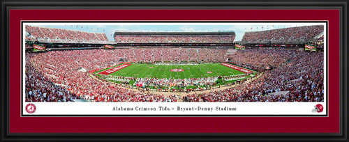 Alabama Crimson Tide Football Panoramic Poster - Bryant-Denny Stadium Picture