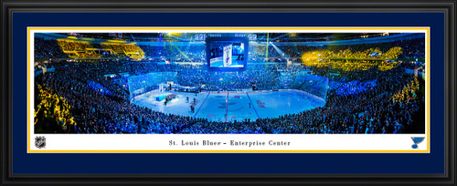 St. Louis Blues Panoramic Poster - Enterprise Center Fan Cave Picture