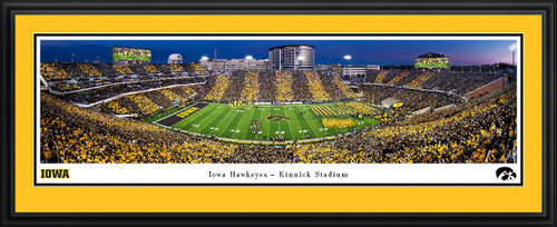 Iowa Hawkeyes Football Panoramic Print - Kinnick Stadium Sunset Poster