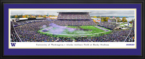 Washington Huskies Football Panoramic Poster - Husky Stadium Picture