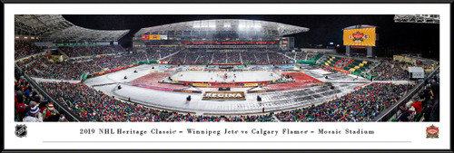 2019 NHL Heritage Classic Panoramic Poster - Calgary Flames vs. Winnipeg Jets
