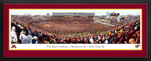 Minnesota Golden Gophers vs Penn State Football Panoramic Poster - Storming the Field Picture