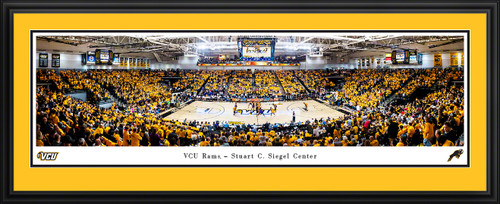 VCU Rams Basketball Panoramic Poster - Stuart C. Siegel Center Picture