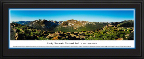 Rocky Mountain National Park Forest Canyon Overlook Scenic Landscape Panoramic Decor