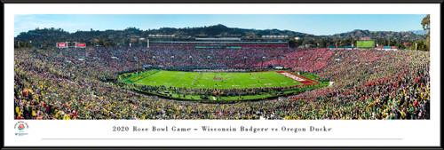 2020 Rose Bowl Game - Kickoff Panoramic Poster - Oregon vs. Wisconsin