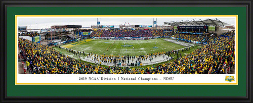 2020 NCAA FCS Football Championship Panoramic Poster - NDSU Bison