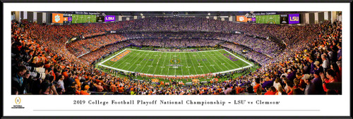 2020 College Football Playoff National Championship Kickoff Panoramic Poster - LSU vs. Clemson
