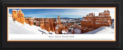 Bryce Canyon National Park - Thor's Hammer in Winter - Panorama