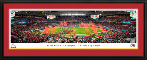 2020 Super Bowl LIV Panoramic Poster - Kansas City Chiefs - Super Bowl 54