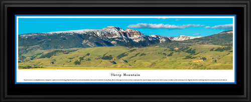 Sheep Mountain - Grand Teton National Park Panoramic Wall Art