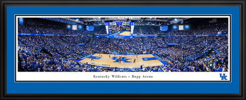 Kentucky Wildcats Basketball Panoramic Poster - Rupp Arena Fan Cave Decor