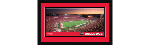 Georgia Bulldogs Football Framed Panoramic Picture - Sanford Stadium