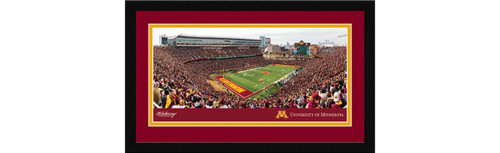 Minnesota Golden Gophers Football Framed Panoramic Picture - TCF Bank Stadium