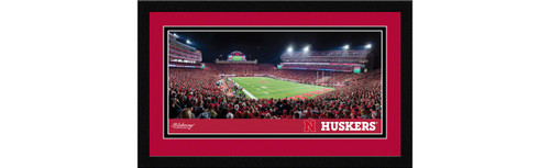 Nebraska Cornhuskers Football Framed Panoramic Picture - Memorial Stadium