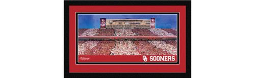 Oklahoma Sooners Football Framed Panoramic Picture - Gaylord Family-Oklahoma Memorial Stadium