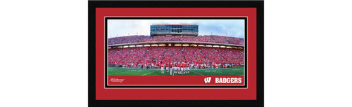 Wisconsin Badgers Football Framed Panoramic Picture - Camp Randall