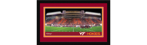 Virginia Tech Football Framed Panoramic Picture - Lane Stadium Worsham Field