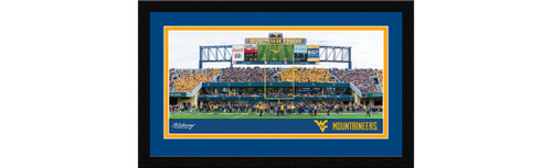 West Virginia Mountaineers Football Framed Panoramic Picture - Mountaineer Field at Milan Puskar Stadium