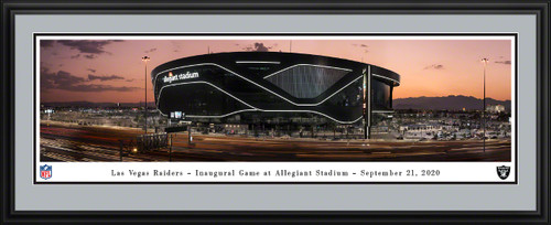 Las Vegas Raiders Framed Panoramic Poster - Allegiant Stadium Picture