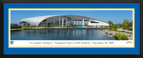 Los Angeles Chargers Framed Panoramic Poster - SoFi Stadium Picture