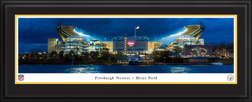 Pittsburgh Steelers Panoramic Fan Cave Decor - Heinz Field NFL Poster