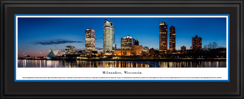 Milwaukee, Wisconsin City Skyline Panoramic Wall Decor