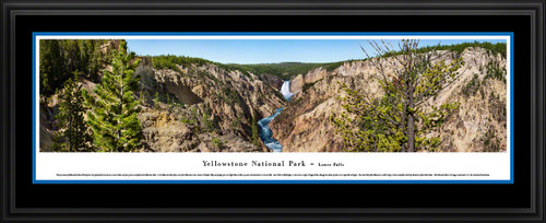 Yellowstone National Park Panoramic Wall Decor - Lower Falls Picture