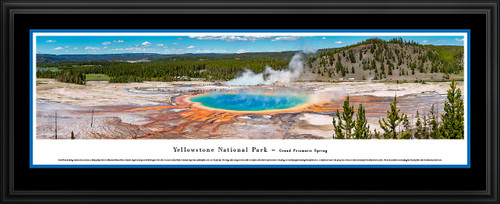 Yellowstone National Park Panoramic Wall Decor - Grand Prismatic Spring Picture