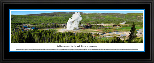 Yellowstone National Park Panoramic Wall Decor - Old Faithful Picture