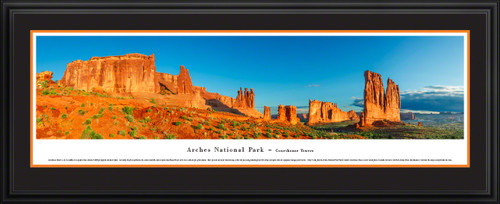 Arches National Park Panoramic Wall Decor - Courthouse Towers Picture