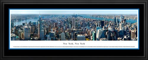 New York City Skyline Panoramic Wall Art - Midtown Aerial