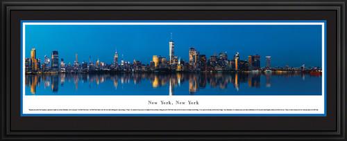 New York City Panoramic City Skyline Wall Decor - Lower Manhattan at Twilight