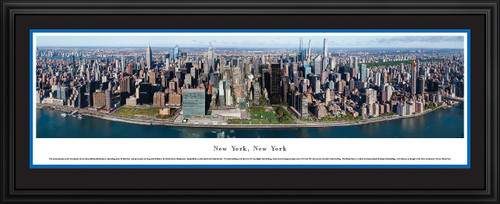New York City Skyline Panoramic Wall Decor - Midtown Manhattan Panorama