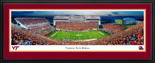 Virginia Tech Hokies Football Panoramic Poster - Lane Stadium Picture