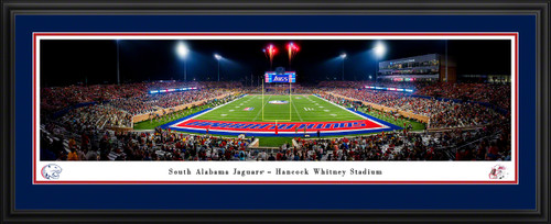 South Alabama Jaguars Football Panoramic Picture - Hancock Whitney Stadium