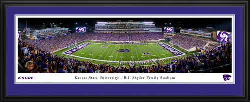 K-State Wildcats Football Panoramic Poster - Bill Snyder Family Stadium Picture
