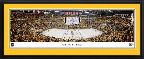 Nashville Predators Panoramic Picture - Bridgestone Arena NHL Fan Cave Decor