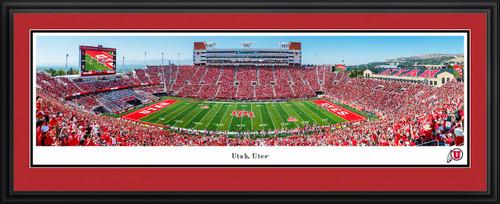 Utah Utes Football Panoramic Fan Cave Decor - Rice-Eccles Stadium Picture