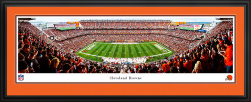 Cleveland Browns Panoramic Poster - FirstEnergy Stadium NFL Fan Cave Decor