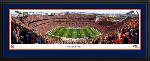 Denver Broncos Panoramic Poster - Empower Field at Mile High Stadium NFL Fan Cave Decor