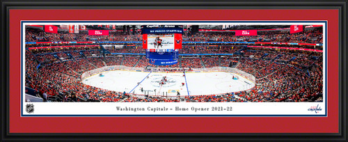 Washington Capitals Panoramic Picture - 2021-22 Home Opener - NHL Fan Cave Decor